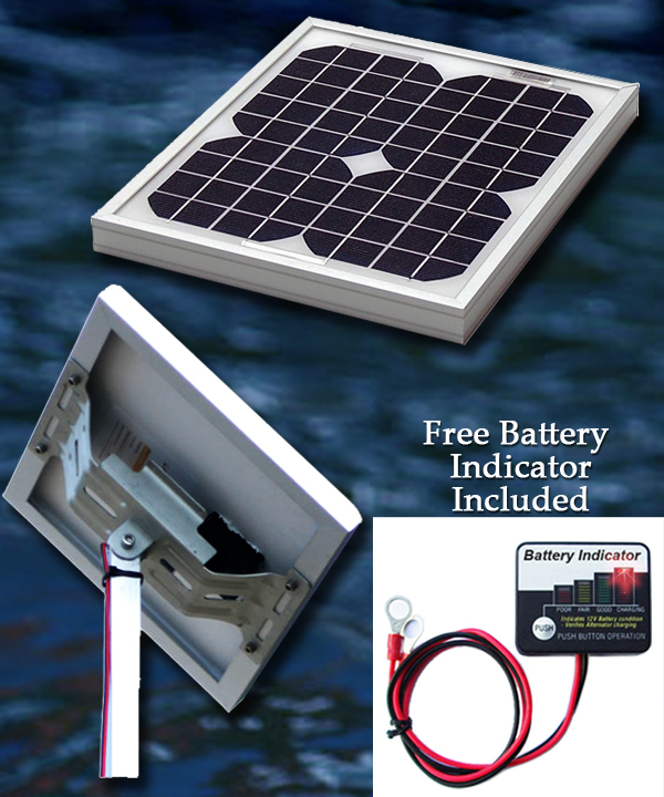 Marine Battery Charging Systems : W v pvc marine solar charger kit