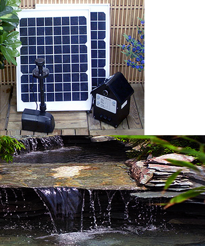 20 watt solar water pumps with battery and leds. Black Bedroom Furniture Sets. Home Design Ideas