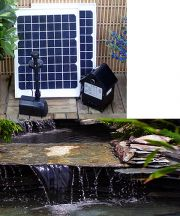 20 Watt Solar Water Pump with Battery and LEDs