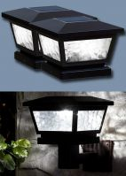 Set of 2 Black Fairmont Post Cap or Wall Solar Lights
