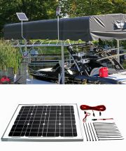 30w 12v Solar Marine Boat Lift Charging Kit