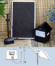 3 Watt Solar Power Pump Kit with Battery, Lights and Li-Ion Batteries