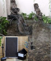 "Solar Pump Kit With Battery Pack and LED Light - 47"" Lift"