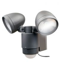 Bright Dual-Head Solar Spotlight Dark Bronze