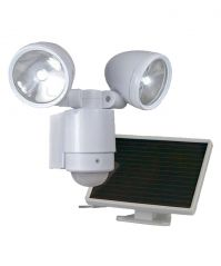 Bright Dual-Head Solar Spotlight White