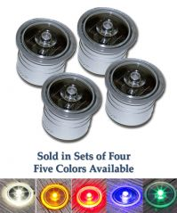 4 Pack Solar Dock Dots Marker Lights