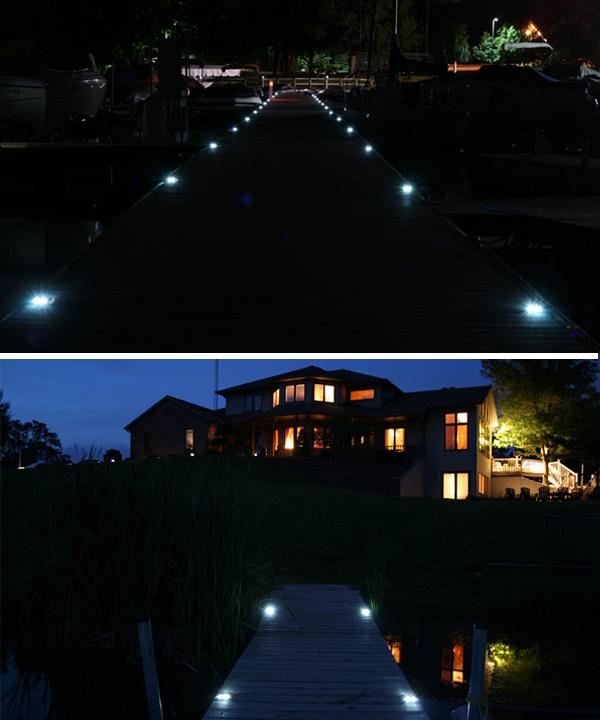 Marine Grade Aluminum Solar Deck Or Dock Light