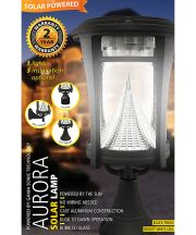 Aurora Solar Lamp with Multiple Mounting Options