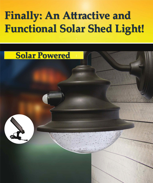 Motion Activated Gooseneck Solar Barn Or Shed Light