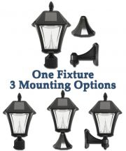 Baytown II Solar Lamp with 3 Mounting Options