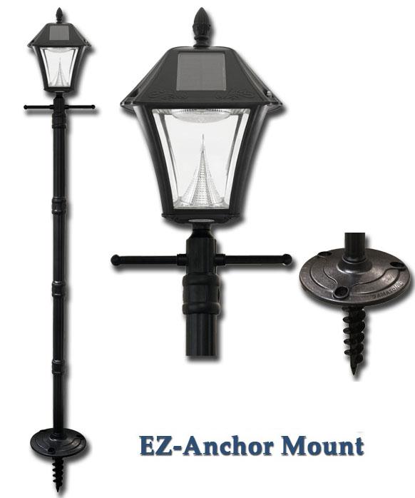 Post Ground Ez Anchor Wall Ceiling Lights, Baytown Solar Lamp