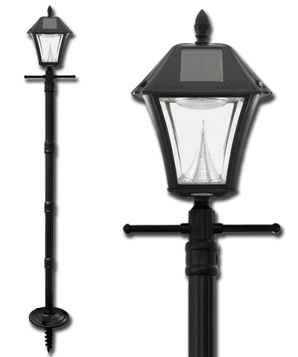Baytown ii solar lamp post with ez anchor base mozeypictures Gallery
