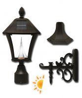 Baytown Solar Lamp 3 Mounting Options in Black