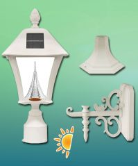 Baytown Solar Lamp 3 Mounting Options in White