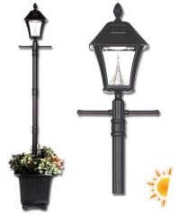 Baytown Solar Lamp Post with Planter