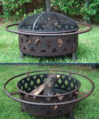 Small Bronze Crossweave Fire Pit