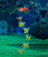 Busy Days Bees Mobile with Solar Light