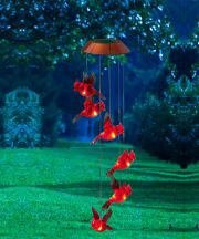 Garden Days Cardinal Mobile with Solar Light