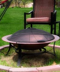 Cast Iron Fire Pit with Copper Finish