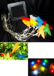 Colorful Birds Solar Lights String