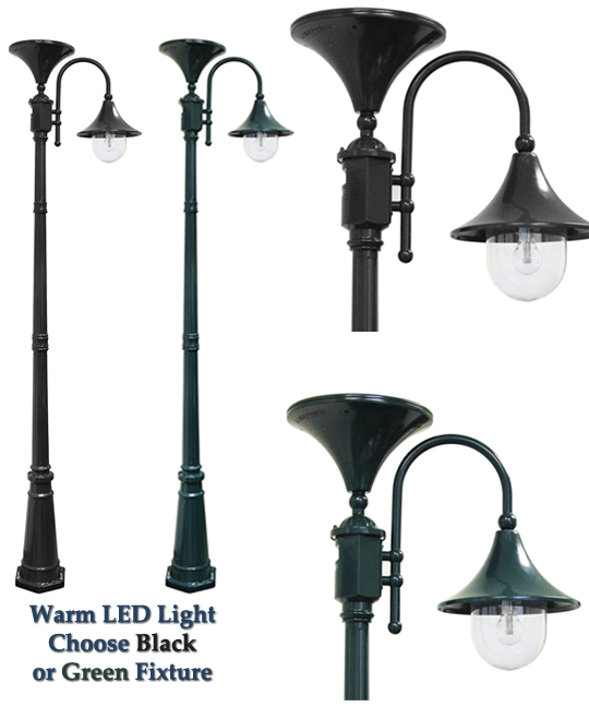everest solar power lamp post in black or green. Black Bedroom Furniture Sets. Home Design Ideas