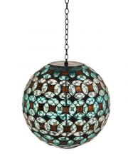 Geometric Sphere Hanging Solar Gazing Ball