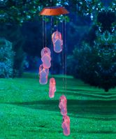 Get Beachy with It Flip Flops Mobile Solar Light