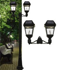 Imperial II Solar Lamp Post Double Head