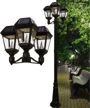 Imperial II Solar Lamp Post Triple Head