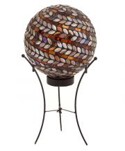 Metallic Spiral Solar Gazing Globe with Stand