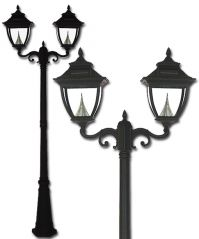 Pagoda Solar Lamp Post Double