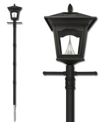 Peking Solar Lamp Post with EZ Post Anchor