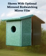 Recycled Plastic Window Nest View Birdhouse Nesting Box