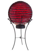 Ruby Red Solar Gazing Ball with Stand