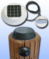 Solar Piling Down Lights for Docks and Decks