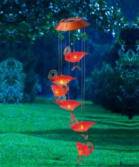 Flashy Flamingos Mobile with Solar Light