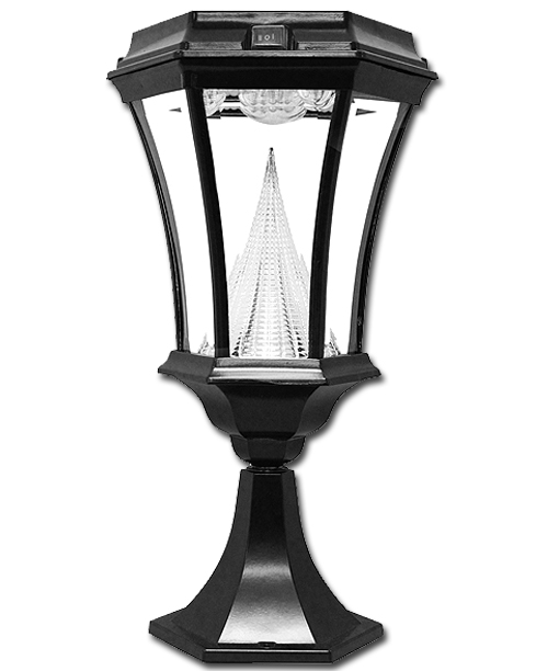 Warm White Victorian Solar Lamp 3 Mounting Options