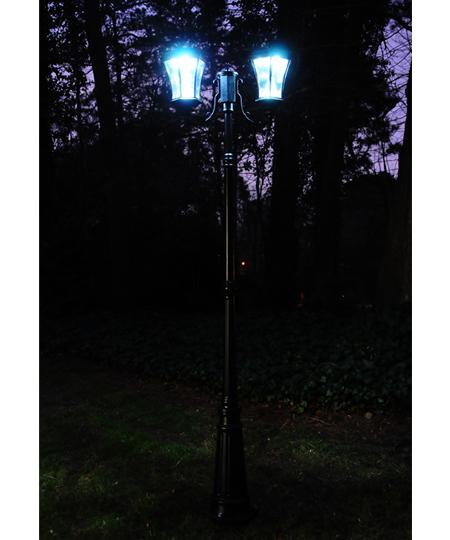 victorian solar lamp post double - Solar Lamp Post
