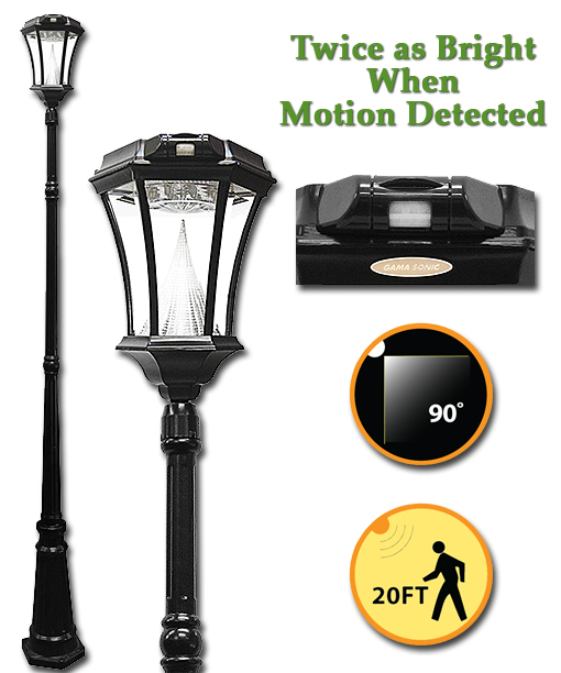 Victorian solar lamp post with motion sensor mozeypictures Images
