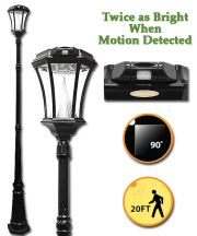 Victorian Solar Lamp Post with Motion Sensor