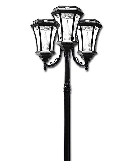 Victorian Solar Lamp Post Triple