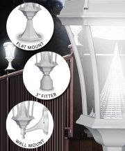 White Victorian Solar Lamp 3 Mounting Options
