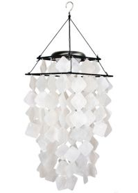 Capiz White Diamond Chime with Solar Light