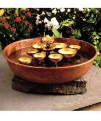 Woodstock Water Bell Fountain with Copper Bowl