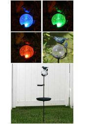 Aquarius Birdbath Solar Light Stake