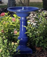 Athena Ceramic Solar Birdbath/Water Fountain