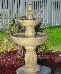3 Tier Birds Delight Outdoor Water Fountain