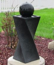 Black Ball On Demand Solar Fountain
