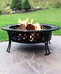 Diamond Weave Large Patio Fire Pit with Spark Screen