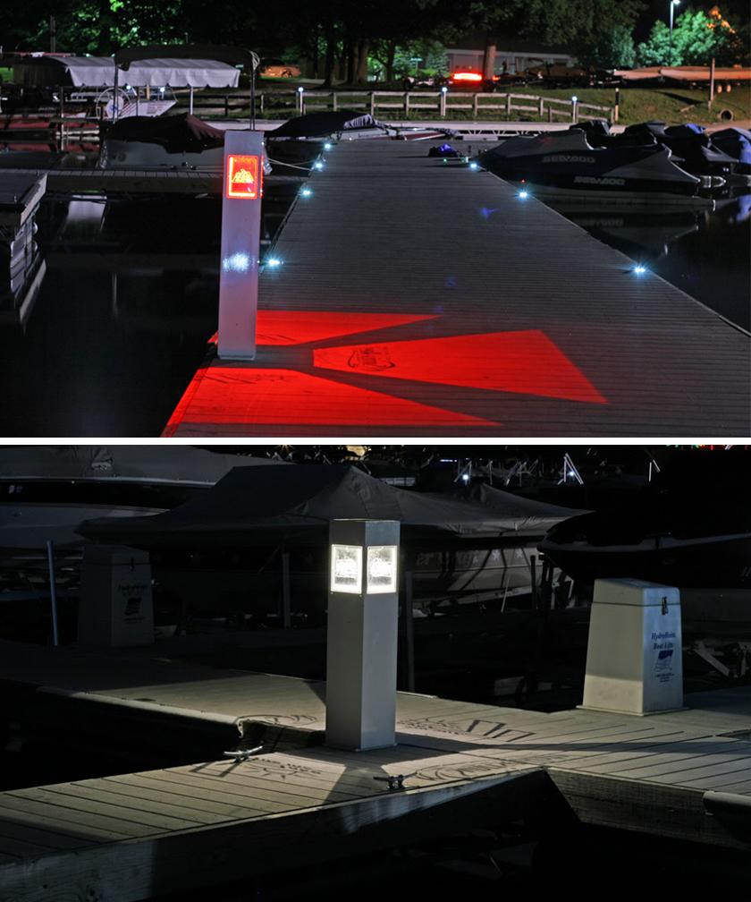 Marine Grade Solar Pedestal Lights 8x8x36